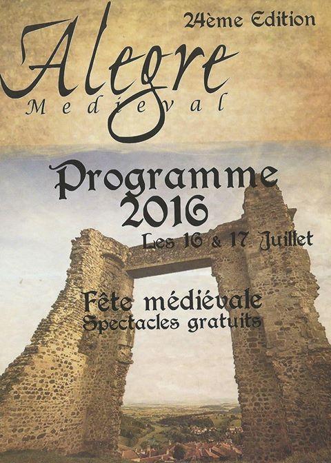 Animations médiévales d'Alègre en 2016