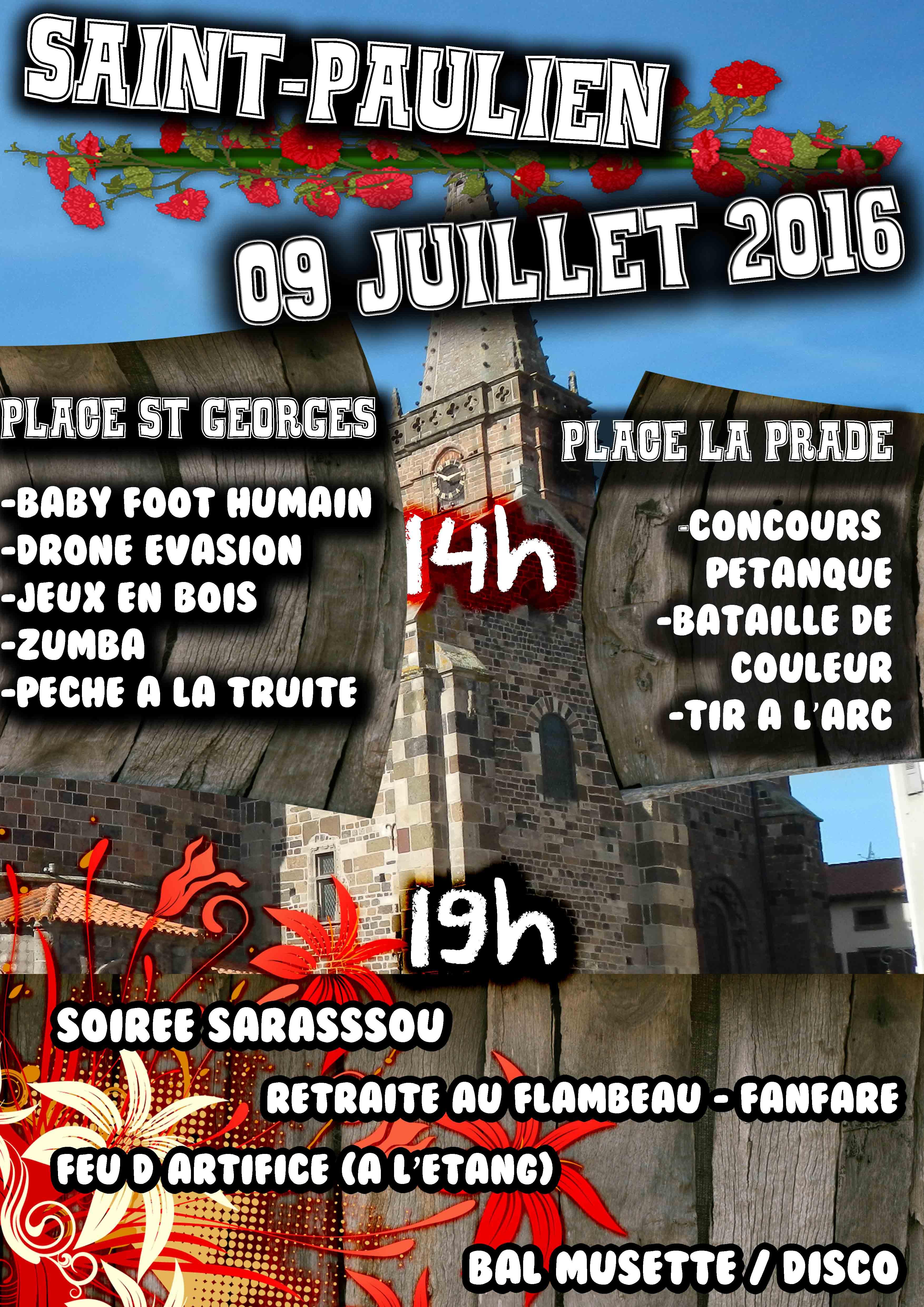 Fête d'été de Saint-Paulien avec de nombreuses animations